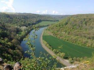 Uitzicht op de Maas in de Wallonische Ardennen